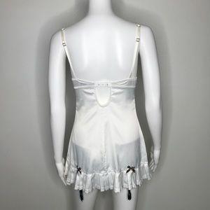 Victoria's Secret Intimates & Sleepwear - Victorias Secret White Tennis Slip Dress 34B